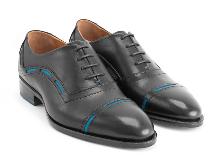 Access Black Cap toe oxford
