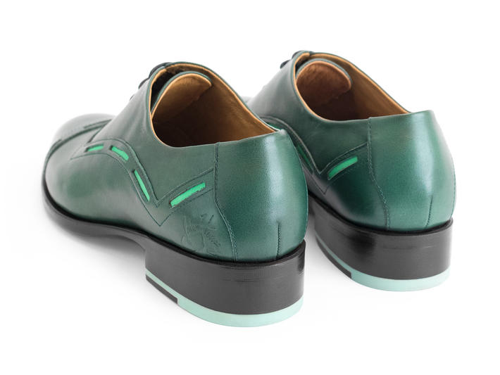 Access Green Cap toe oxford