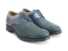 Danice Green/Floral Woven leather derby