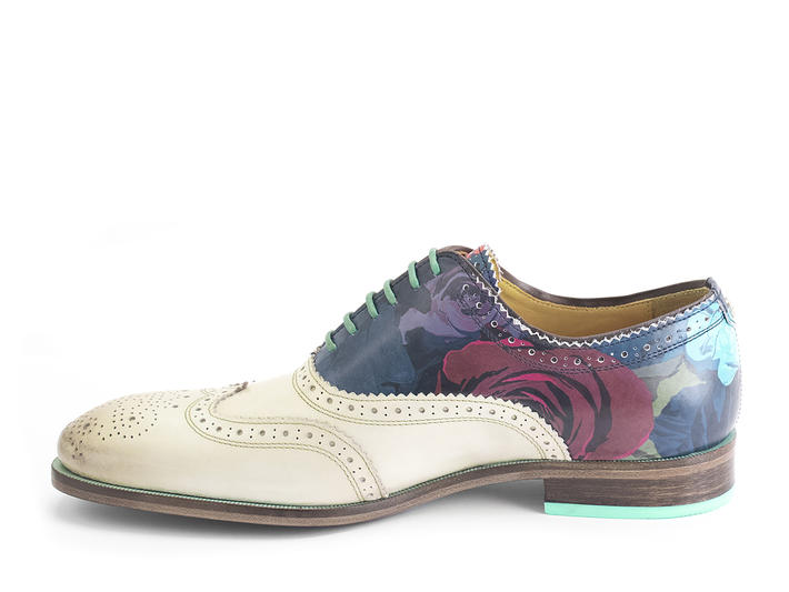 Amatrice Floral Brogued wingtip oxford