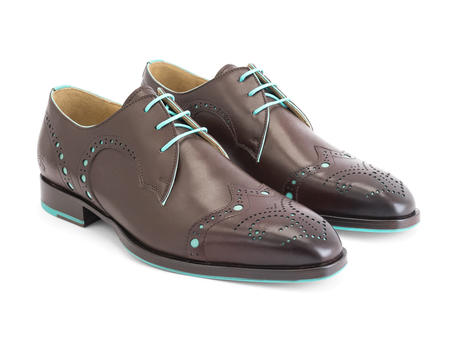 Duke Brown Brogued wingtip derby