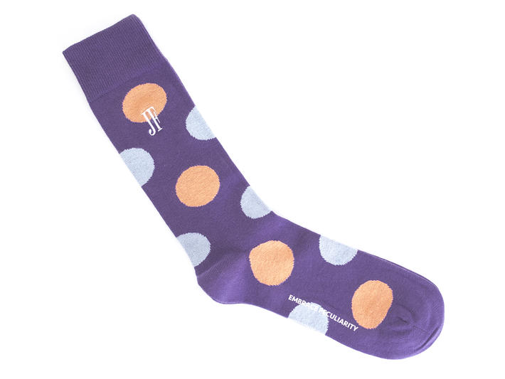 Pipo Vog Socks Purple Polka dot sock