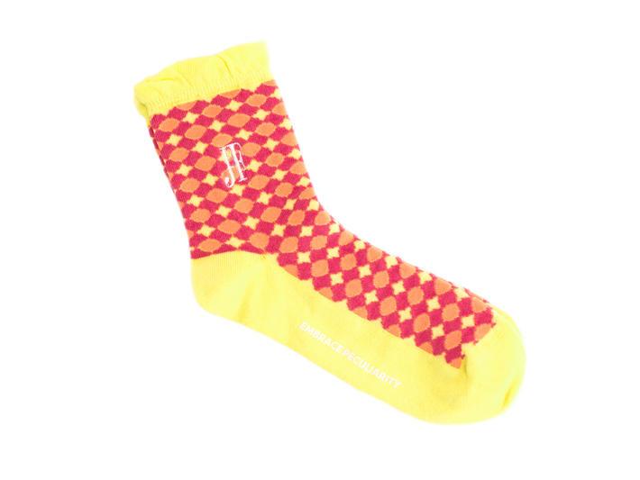Adeline Vog Socks Pink/Yellow Floral pattern socks