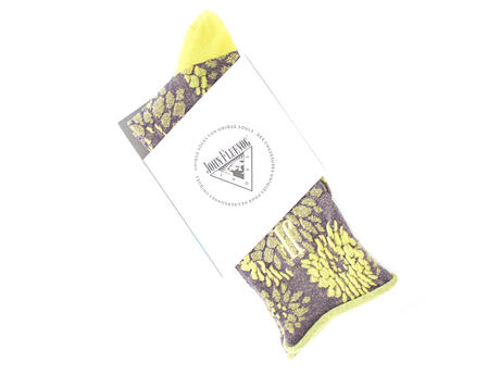 Trixie Vog Socks Purple/Yellow Jacquard knit sock