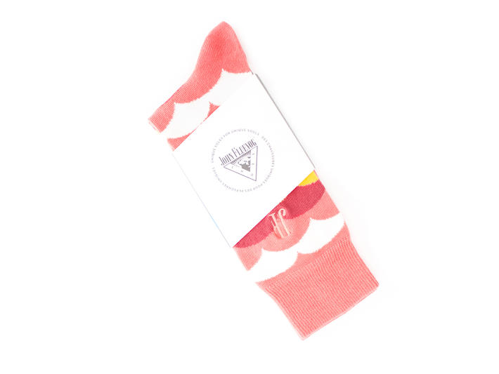Lux Vog Socks Bubblegum Patterned sock