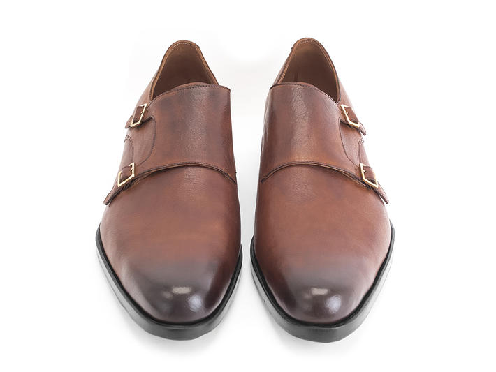 205 Pine Street Brown (Large) Classic double monkstrap