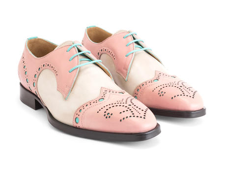 Duke Salmon Brogued wingtip derby