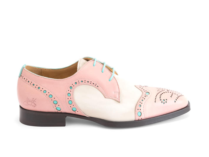 Duke Saumon Derby brogue à bout golf
