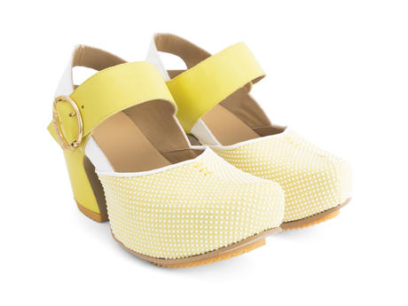 Guide Yellow Dots Platform Mary Jane Heel