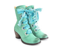 Gladstone Teal Mid-calf lace-up boot