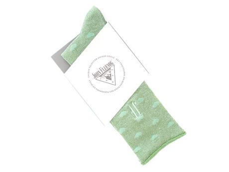 Bonnie Vog Socks Green Patterned metallic sock