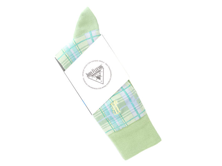 Blaze Vog Socks Mint Tartan knit sock