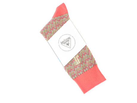 Gus Vog Socks Salmon Zigzag sock