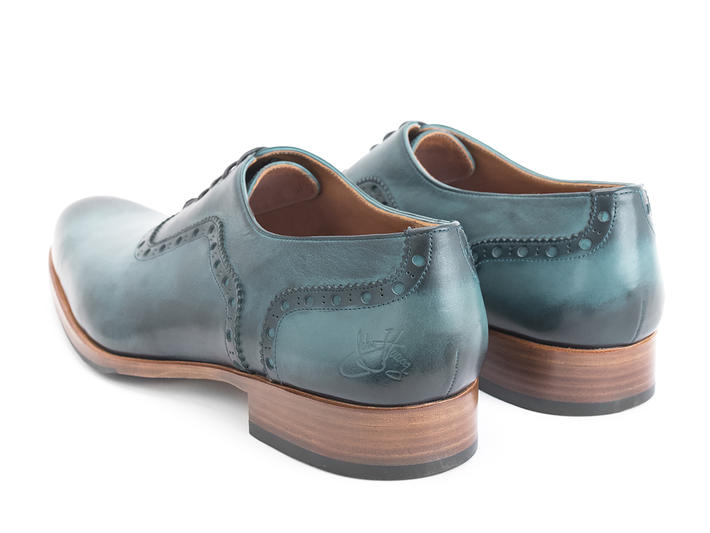 837 Granville Light Blue (Large) Brogued Leather Oxford