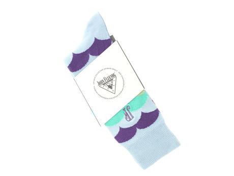 Lux Vog Socks Pale blue Patterned sock