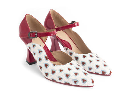 Lily-Rose Heart/Red D'orsay mary jane heel