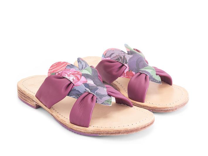 Tambo Floral Flat slide sandal