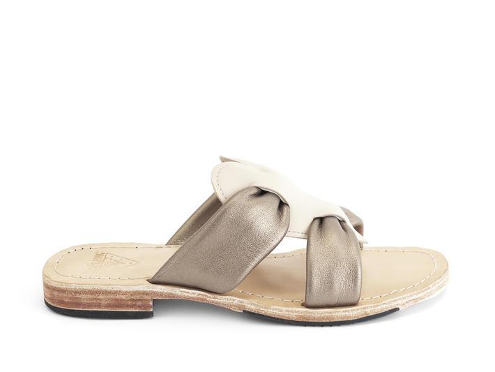 Tambo Cream Flat slide sandal
