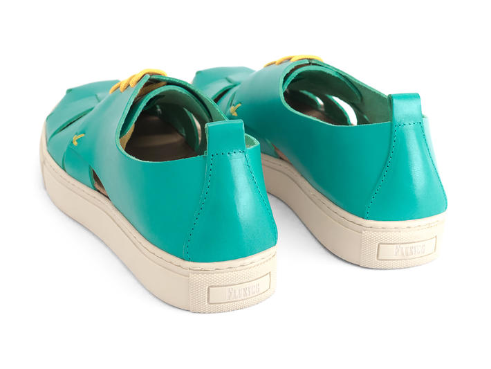 Punch Buggy Teal Woven sneaker sandal
