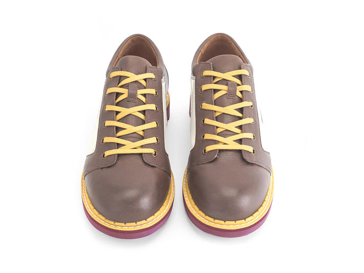 Racer Brown Contrast derby lace-up