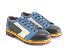 Racer Blue Contrast derby lace-up