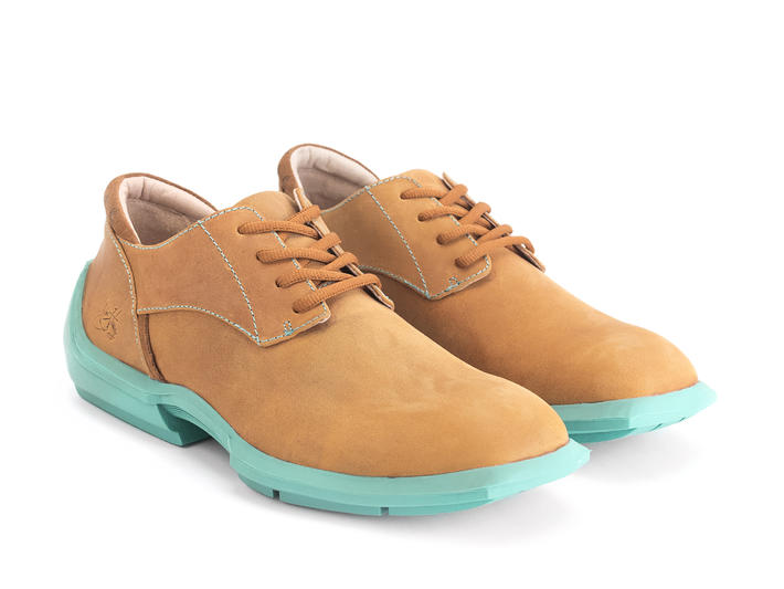 Baldwin Tan Lace-up derby shoe