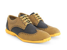 Orbit Noir/Brun/Jaune Derby à bout golf brogue