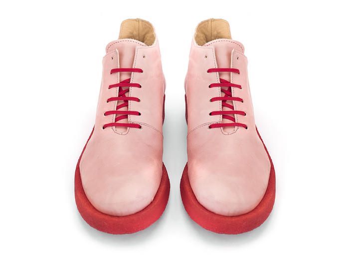 Coquihalla Pink Crepe sole lace-up shoe