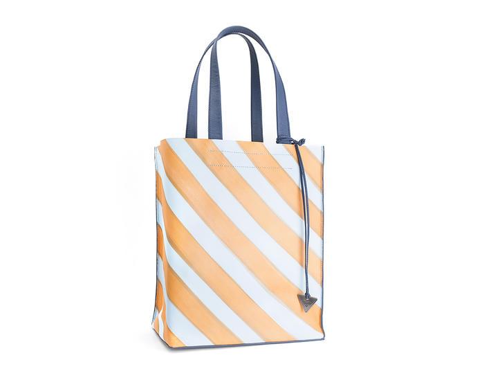 Adelia Orange Striped Modern tote