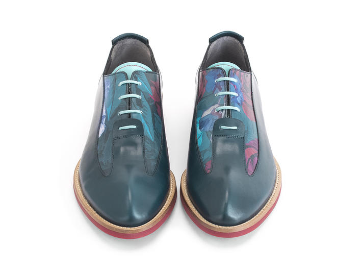 Honorius: Men's Floral Sleek wingtip oxford