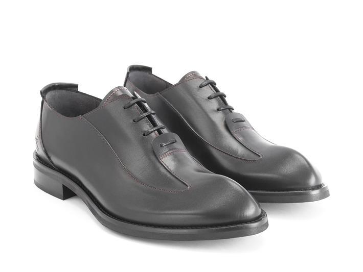 Honorius: Men's Noir Élégant richelieu à bout golf