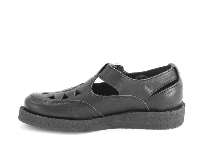 Algoma Black Fisherman sandal with crepe