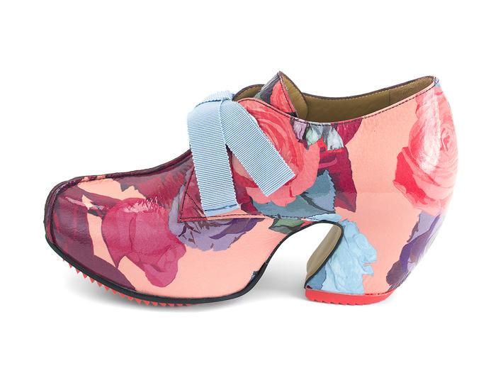 Pledge JF Floral Lace-up platform heel