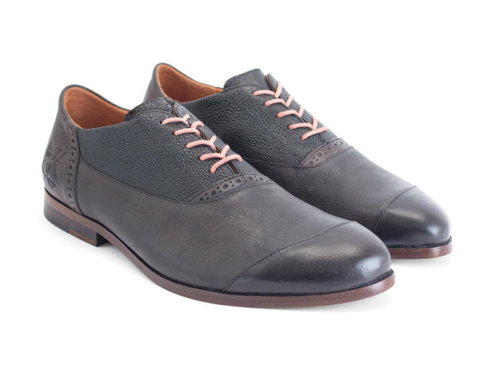 Duston Black Asymmetric oxford
