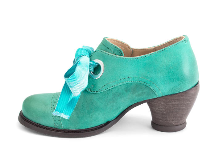 Templeton Teal Single eyelet lace-up shoe