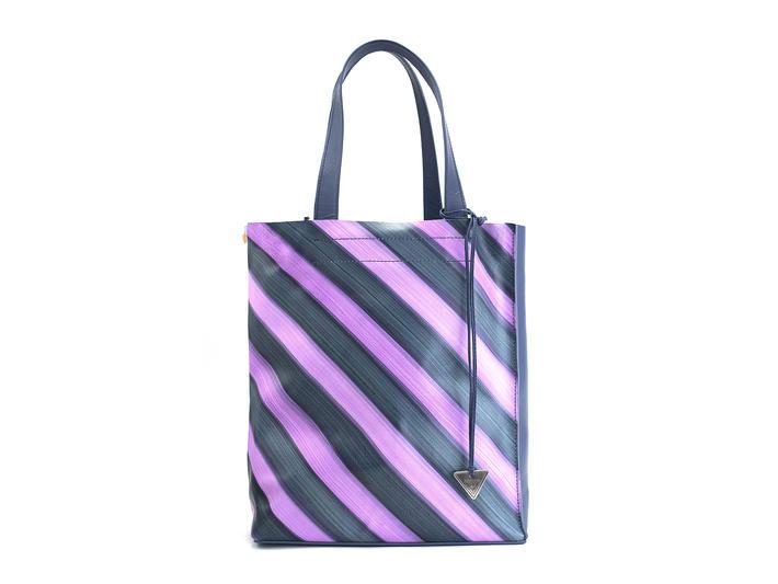 Adelia Purple Stripe Modern tote