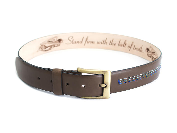 Godfrey Brown Patterned belt