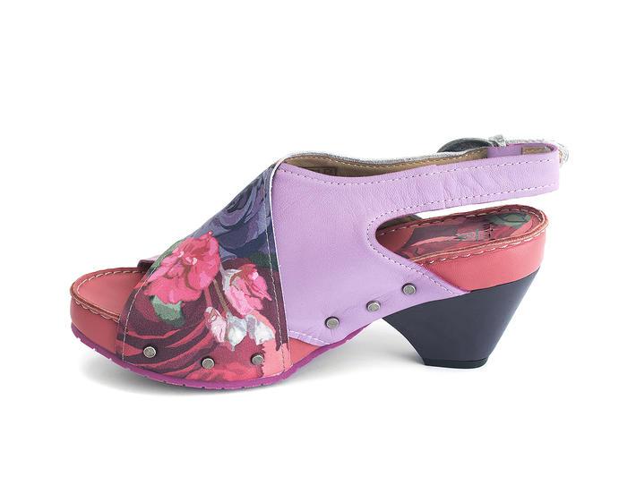 Sarah Pink Floral Slingback sandal