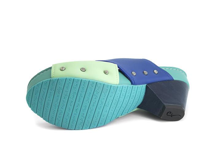 Sarah Blue & Green Slingback sandal