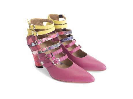 Watusi Pink Multi-strap heel