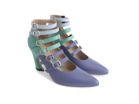 Watusi Blue Multi-strap heel