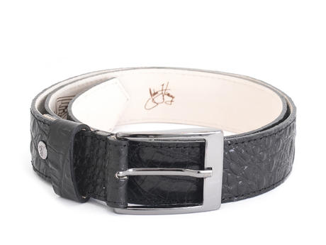 Merek Black Crocodile embossed belt