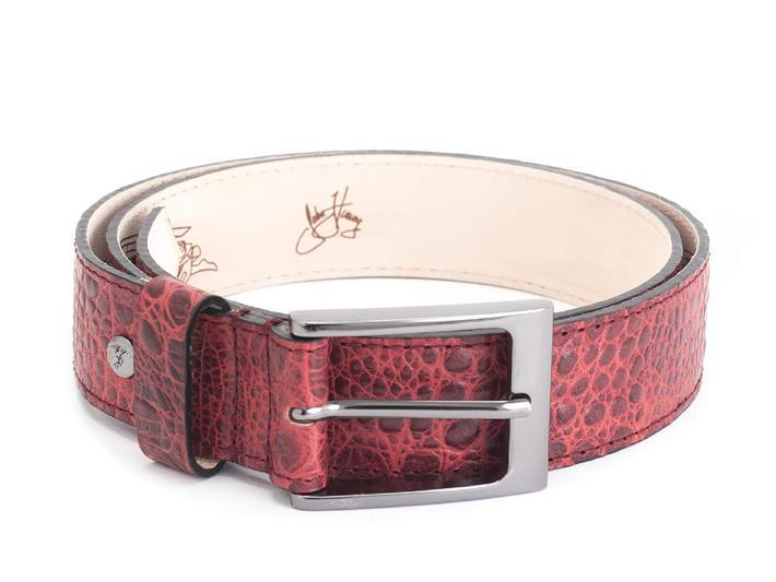 Merek Red Crocodile embossed belt