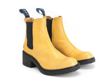Nap Yellow Crepe soled chelsea boot