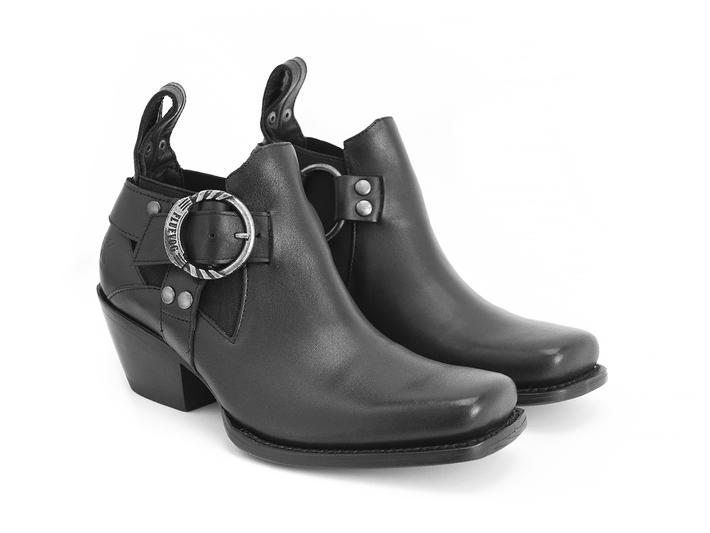 Patsy Black Western ankle boot
