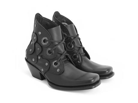 Emmylou Black Western lace-up boot