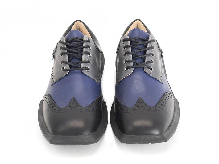 Charles Black/Blue Contrast Leather Wingtip