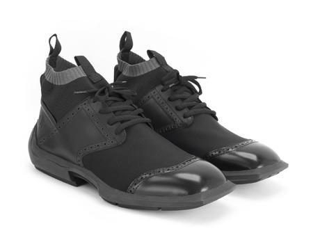 Anthony Noir Chaussure sport brogue avec tissu technique