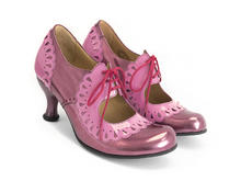 Lottie Deno Pink Mary Jane with frilled edges