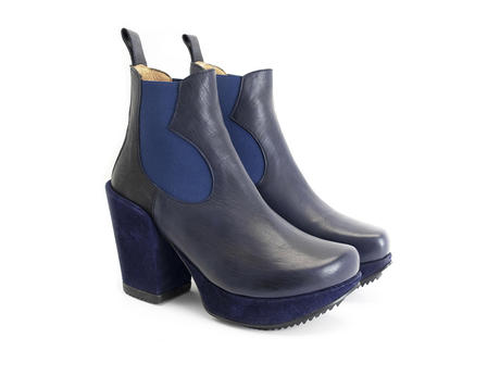 Tracker Blue Platform chelsea boot